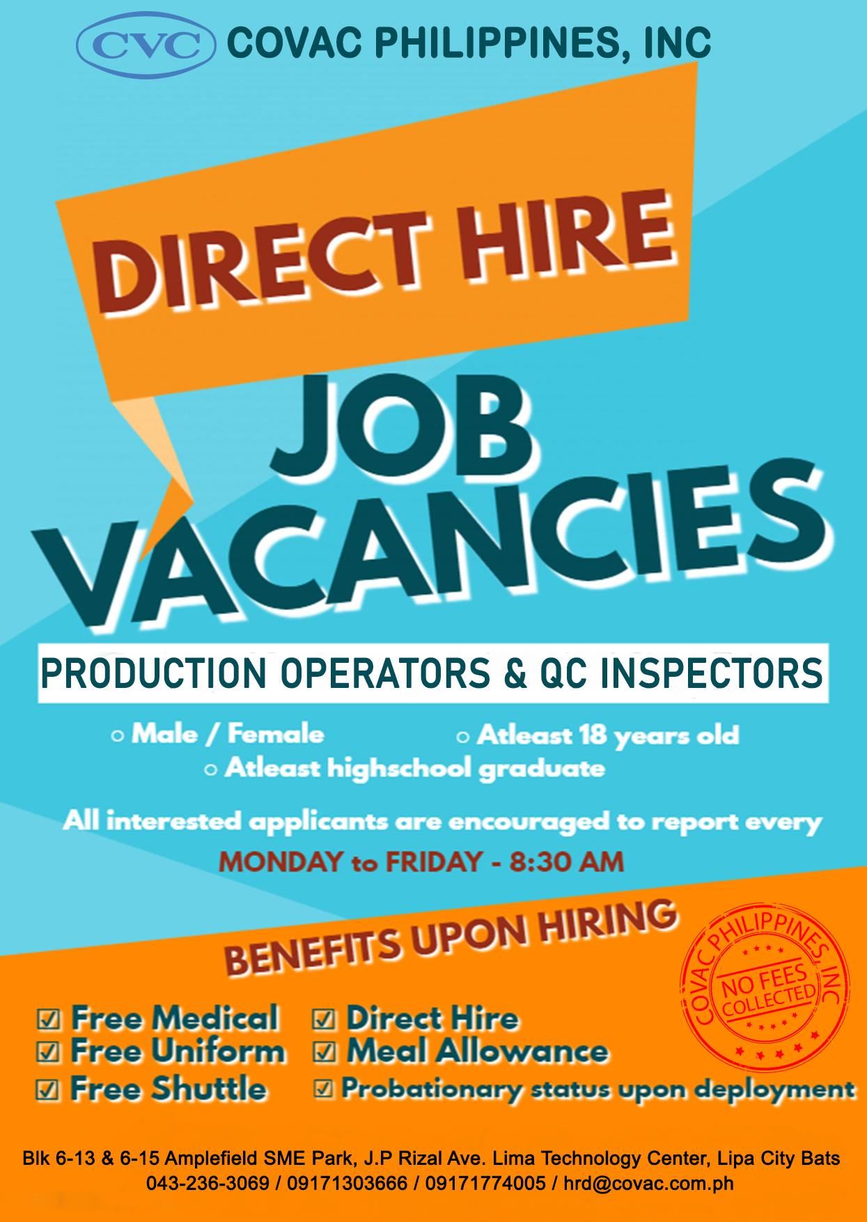 Covac Philippines Careers Archive Covac Philippines